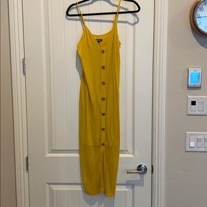 Yellow midi summer dress